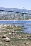 Ebbe in Vancouver Stockbilder