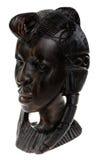 Ebbehouten houten vrouwenhoofd Royalty-vrije Stock Afbeelding