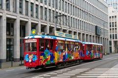 Ebbelwei-druk tramtram de reis van de sightseeingsstad in Frankfurt Duitsland uit stock afbeelding