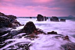 Free Ebbing Tide In Taiwan North Coast Royalty Free Stock Photos - 112168148