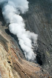 Ebeko火山,幌筵岛海岛,俄罗斯 免版税图库摄影