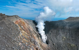 Ebeko  Volcano, Paramushir Island, Russia Royalty Free Stock Photo