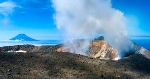 Ebeko  Volcano, Paramushir Island,  Russia Stock Photo