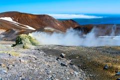 Ebeko  Volcano, Paramushir Island,  Russia Stock Images