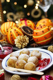 Ebelskiver, danish christmas pancake puffs. Scandinavian street food Royalty Free Stock Image