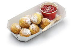 Ebelskiver, danish christmas pancake puffs Royalty Free Stock Photos