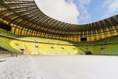 Eben aufgebautes PGE Arenastadion in Gdansk Stockfotografie