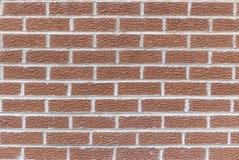 Eben gelegte Wand des roten Backsteins stockfotografie