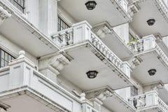 Eben gemaltes Weinlese-Gebäude Lizenzfreies Stockbild