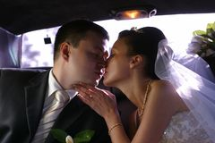 Eben verheiratete Paare Stockfotos