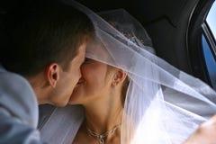 Eben verheiratete Paare Lizenzfreie Stockfotografie