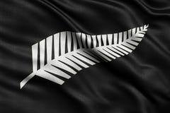 Eben vorgeschlagene Flagge des silbernen Farns für Neuseeland Stockfotografie