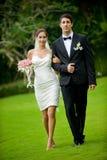 Eben Wed-Paare lizenzfreie stockfotos