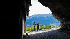 EBENALP, SWITZERLAND. / Ebenalp is a famous destination in  Appenzell , Switzerland Stock Images