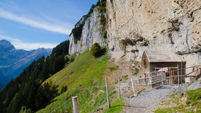 EBENALP, SWITZERLAND. / Ebenalp is a famous destination in  Appenzell , Switzerland Royalty Free Stock Photos