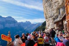 EBENALP, SWITZERLAND. / Ebenalp is a famous destination in  Appenzell , Switzerland Royalty Free Stock Photo