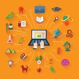 Ebene und Webdesignfahne Lizenzfreies Stockbild