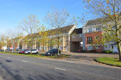 Ebenen in Cambourne, Cambridgeshire Stockfotos