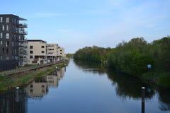 Ebenen in Fluss Oude IJssel Stockbild