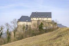 Ebernburg城堡坏曼斯特上午斯坦Ebernburg,德国 免版税库存图片