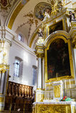Ebersmunster Abbey Cathedral majestic interior. Baroque style, Alsace, France Royalty Free Stock Images