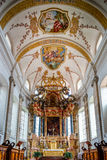 Ebersmunster Abbey Cathedral majestic interior Stock Photos