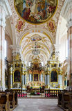 Ebersmunster Abbey Cathedral majestic interior Stock Photo