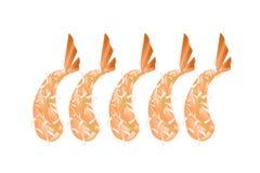 Ebi Tempura or Fried Shrimp on White Background Royalty Free Stock Image