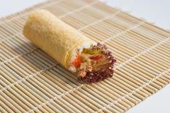 Ebi Tempura (Shrimp) Hand Roll Temaki Stock Photography