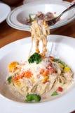 Ebiko cream sauce pasta Stock Images