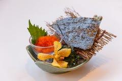 Ebiko Shrimp Egg Served with Seaweed Stock Image