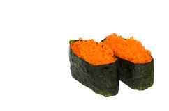 Ebiko sushi. On the white background Royalty Free Stock Photos