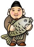 Ebisu, einer der sieben glücklichen Götter Lizenzfreie Abbildung