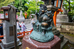 Ebisu statue god at Yasaka-jinja Shrine Stock Photo
