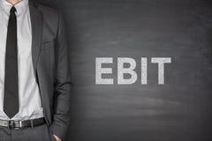 EBIT on blackboard Royalty Free Stock Photos