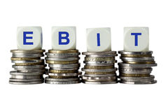 EBIT - Earnings Before Interest and Taxes Royalty Free Stock Photo