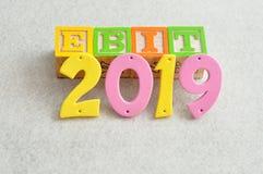 2019 EBIT - förtjänster för inkomst och skatter Fotografering för Bildbyråer