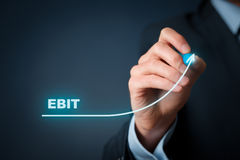EBIT growth Royalty Free Stock Image