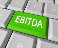 EBITDA键盘钥匙按钮收入收支赢利 免版税库存图片