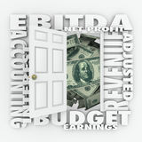 EBITDA-Buchhaltungs-Budget-Berichts-Aussagen-Investitions-Gewinn Lizenzfreie Stockfotografie