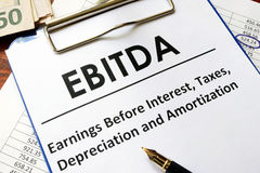 Ebitda concept. Royalty Free Stock Images