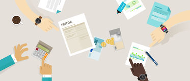 EBITDA-förtjänster för intresse, skatter, avskrivning och amortering royaltyfri illustrationer