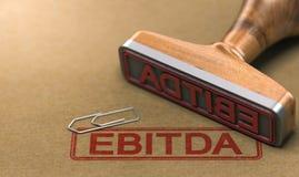 EBITDA, guadagni prima di interesse, tasse, ammortamento e Amorti Fotografia Stock Libera da Diritti