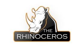 Eblema av en noshörning Royaltyfri Fotografi