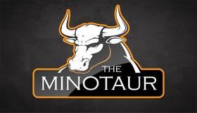 Eblema de um minotaur Imagens de Stock