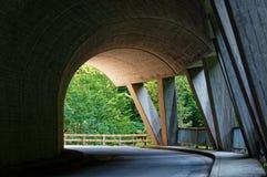 Ebniter valley natural wonders, Vorarlberg, Austria. Ebniter valley tunnell, Vorarlberg, Austria stock photos