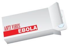 有反病毒ebola的箱子 库存照片