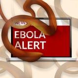 Ebola Alert computer screen Royalty Free Stock Photo