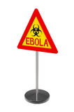Ebola biohazard sign. Isolated on white 3d render Royalty Free Stock Image