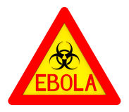 Ebola biohazard sign. Isolated on white 3d render Stock Photography